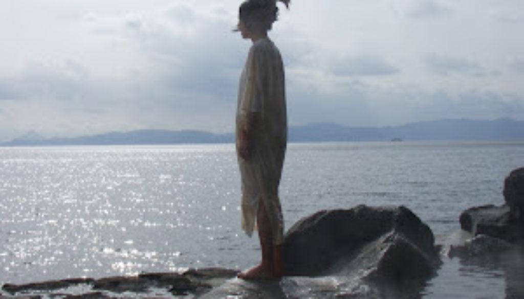 Woman in Hot Spring on Sakurajima
